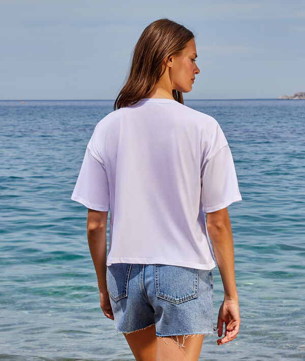 "T-shirt imprimé fleuri ""Peace & love"""