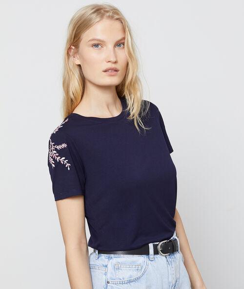 T-shirt à broderies florales