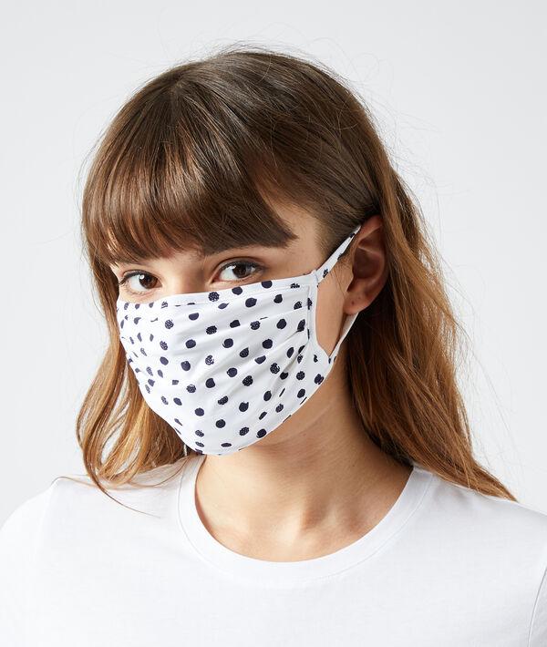 Masque de protection à pois