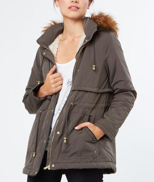 Manteau intérieur fausse fourrure