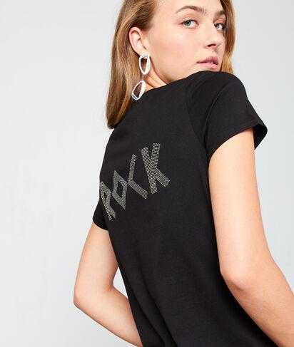 """T-shirt """"Rock"""" à strass"""