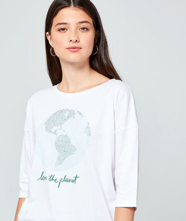 "T-shirt ""Love the planet"" en coton bio"