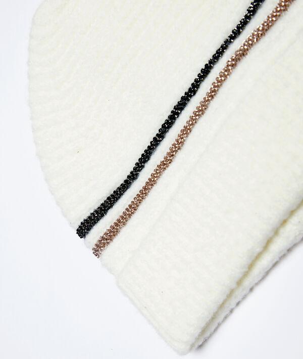 Bonnet à fils métallisés