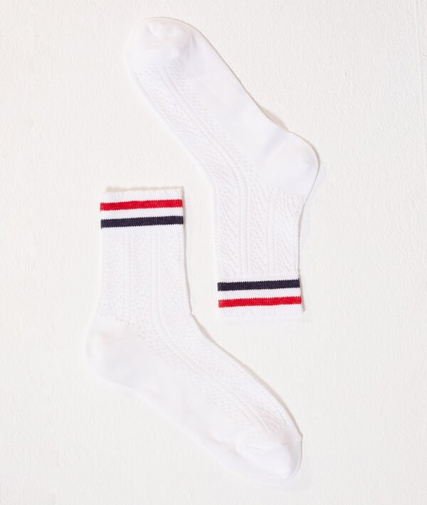 Chaussettes style pointelle