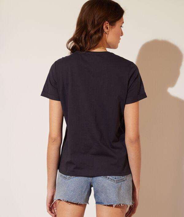 T-shirt col ajouré