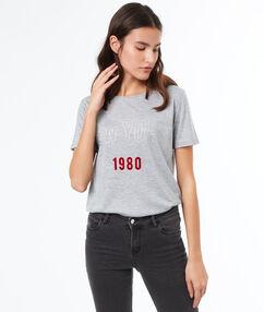 "T-shirt ""new york"" gris."