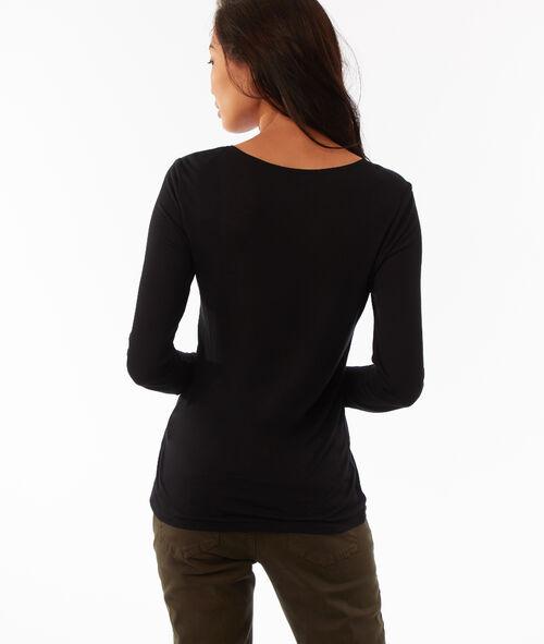 T-shirt manches longues col V