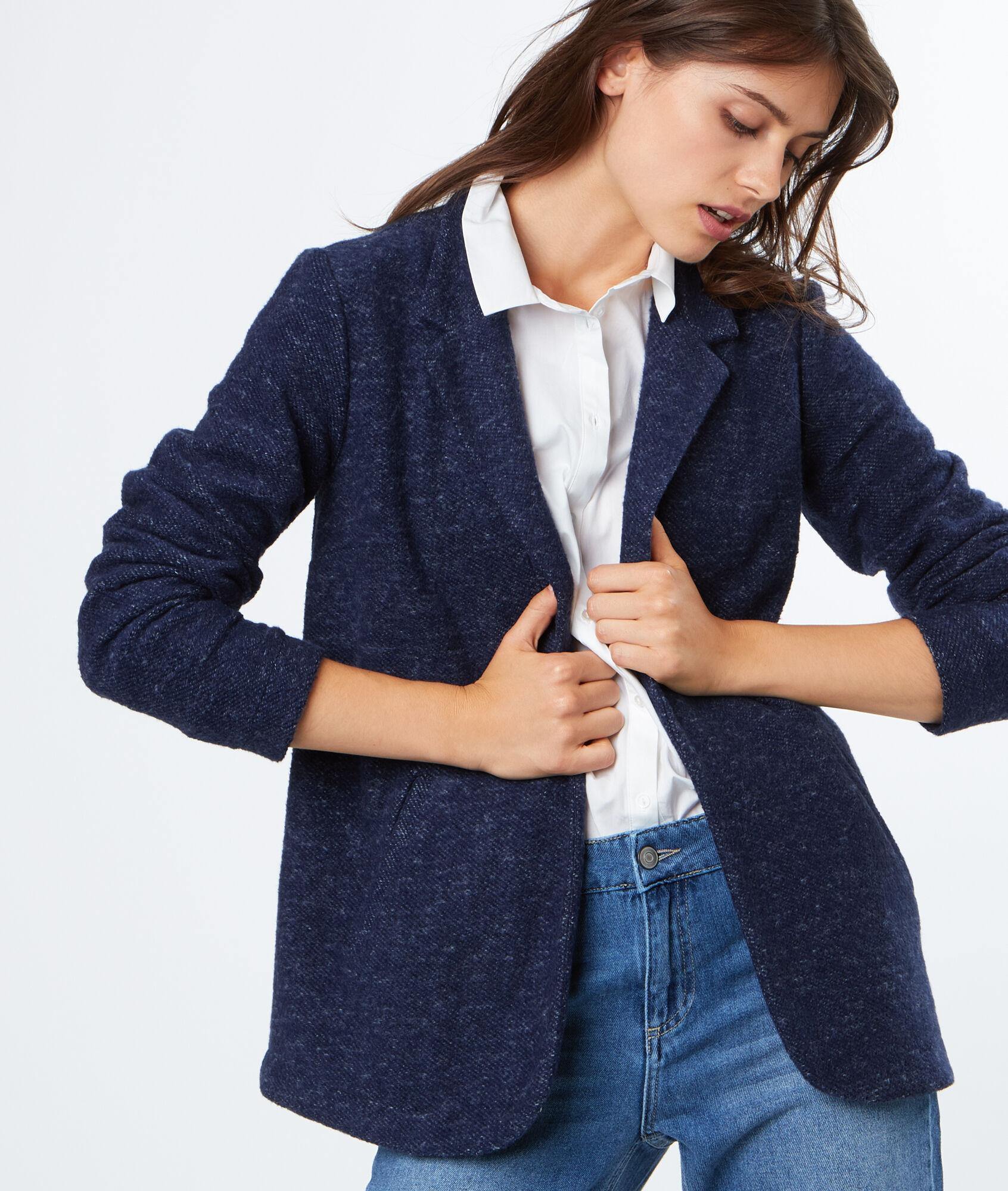 Veste de tailleur femme bleu marine