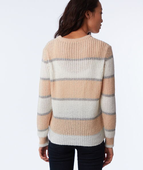 Pull à rayures en grosse maille