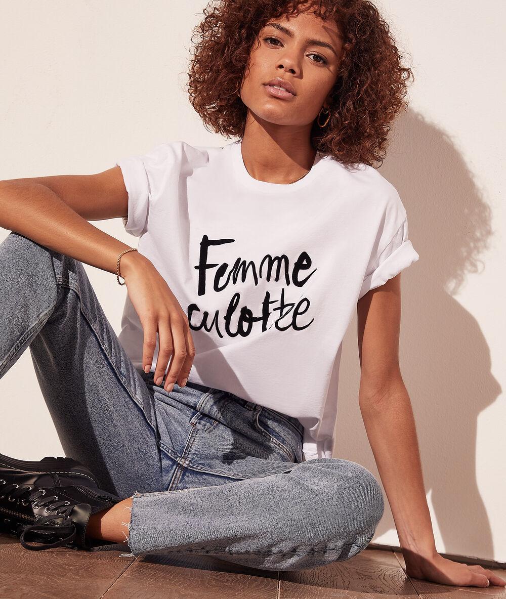 T-shirt 'femme culottée' coton bio - Femme - XL - Blanc - Femme - Etam