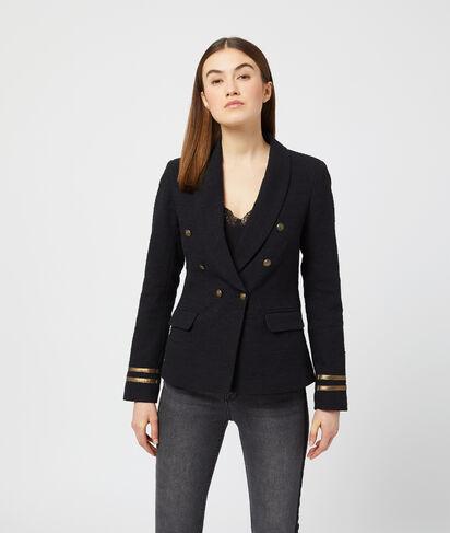 Veste de tailleur à détails dorés