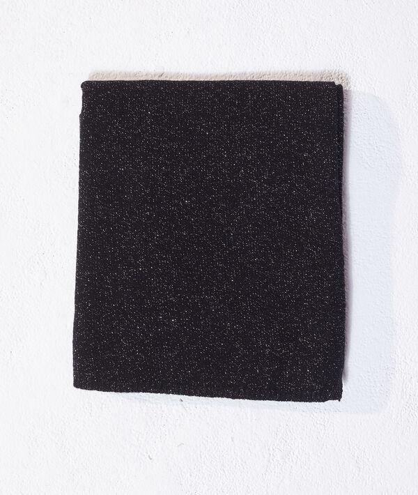 Écharpe à fils métallisés en cachemire et laine