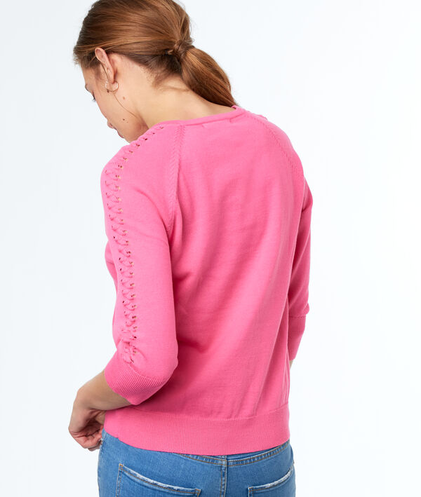 PULL MANCHES 3/4 COL ROND en coton