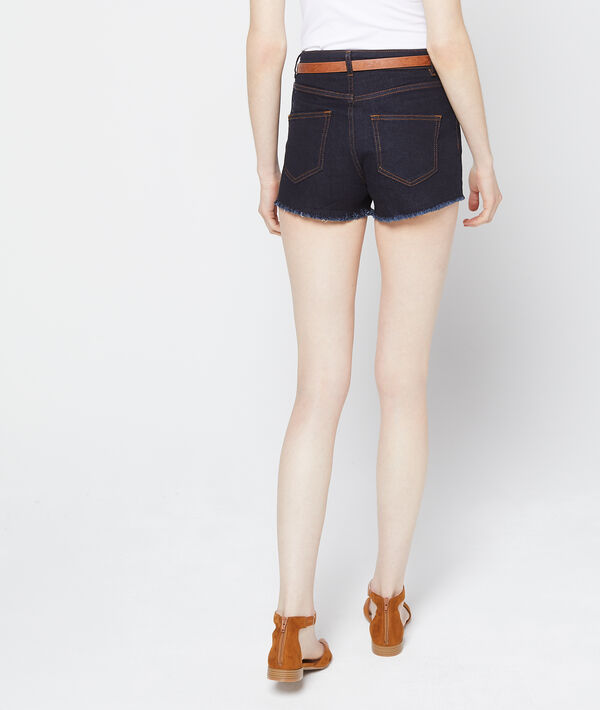Short en jean ceinturé