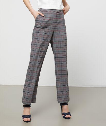 Pantalon large à carreaux