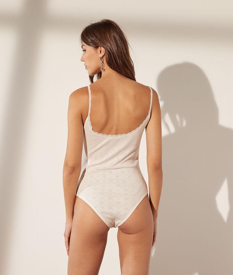 Body pointelle en coton