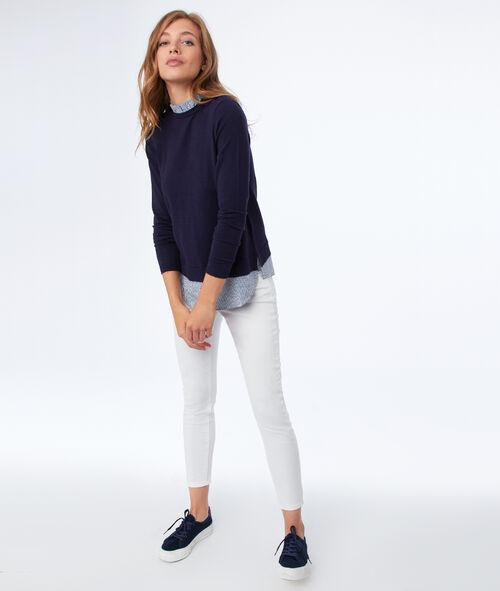 Pull col chemise 2 en 1