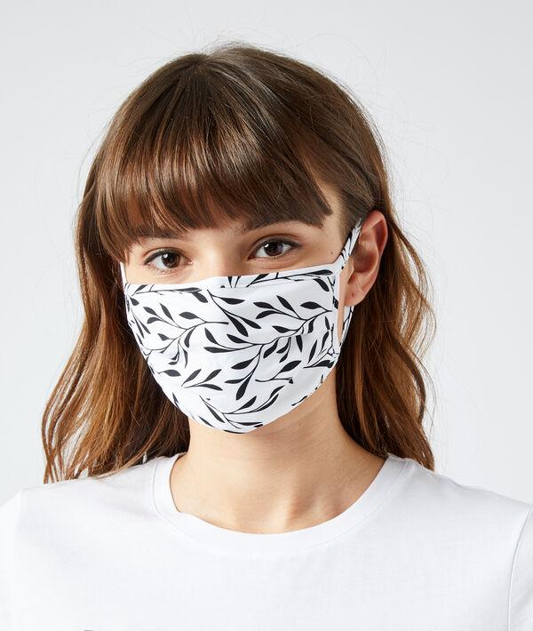 Masque de protection imprimé feuillage