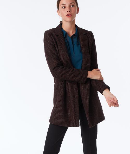 Manteau 3/4 en laine mélangée