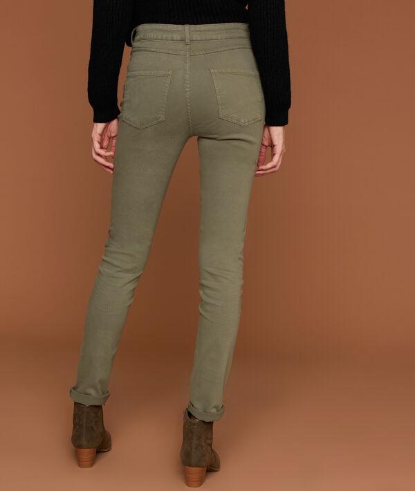 Pantalon slim 100% coton