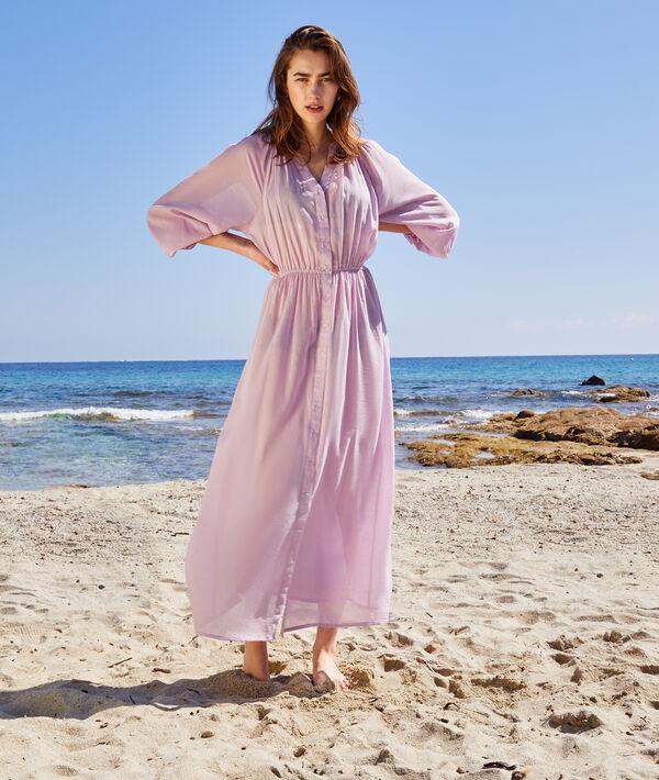 Robe longue de plage taille élastique