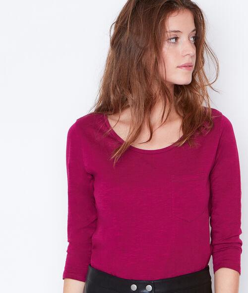 T-shirt manches 3/4 à col rond