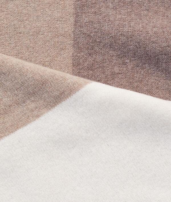 Écharpe à rayures en cachemire et laine
