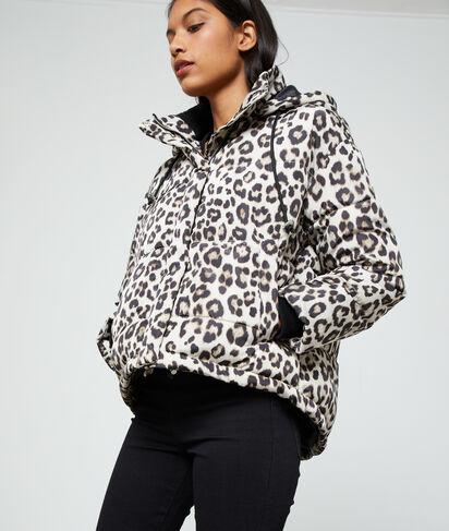 Doudoune imprimé léopard