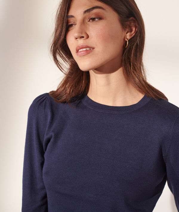 Pull col rond maille fine