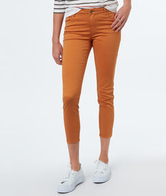 Pantalon 7/8 slim ocre.