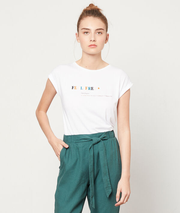 """T-shirt brodé """"Feel free"""""""