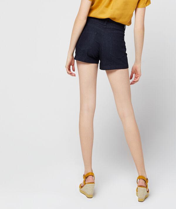 Short en jean à laçage