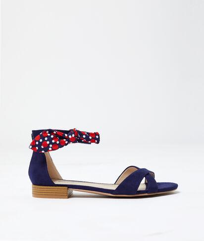 Sandales nouées effet daim