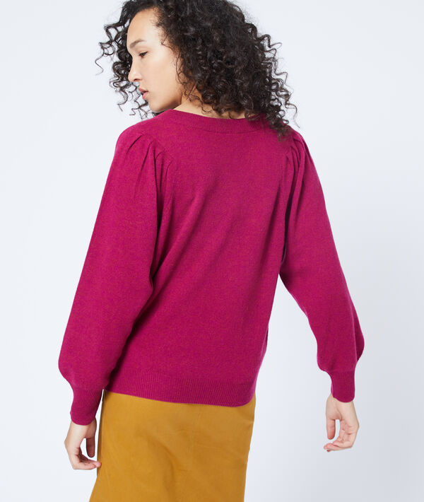 Pull manches ballons en cachemire