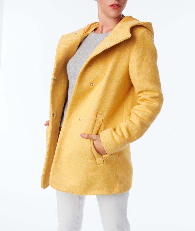 Manteau trois-quarts à capuche mimosa.