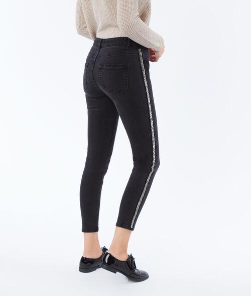 Pantalon slim avec bande pailletée