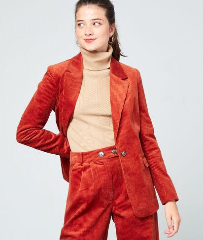 Veste de tailleur en velours côtelé