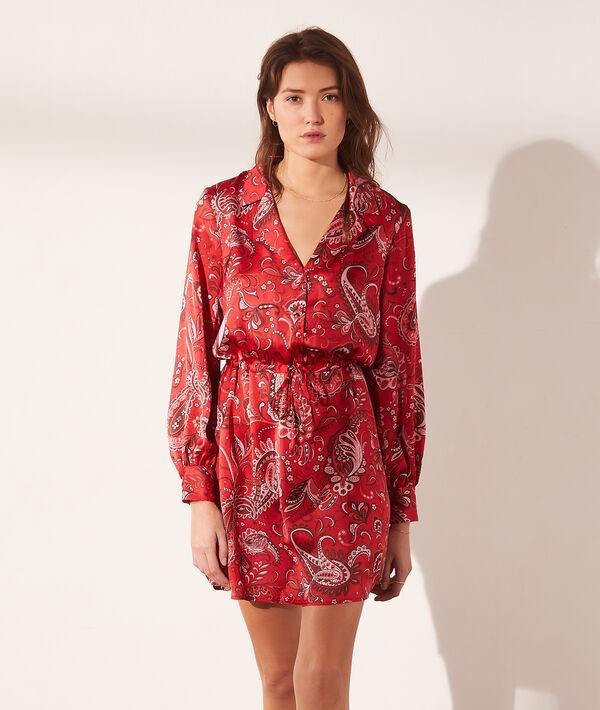 Robe imprimé bandana - AZAD - 34 - Rouge - Femme - Etam