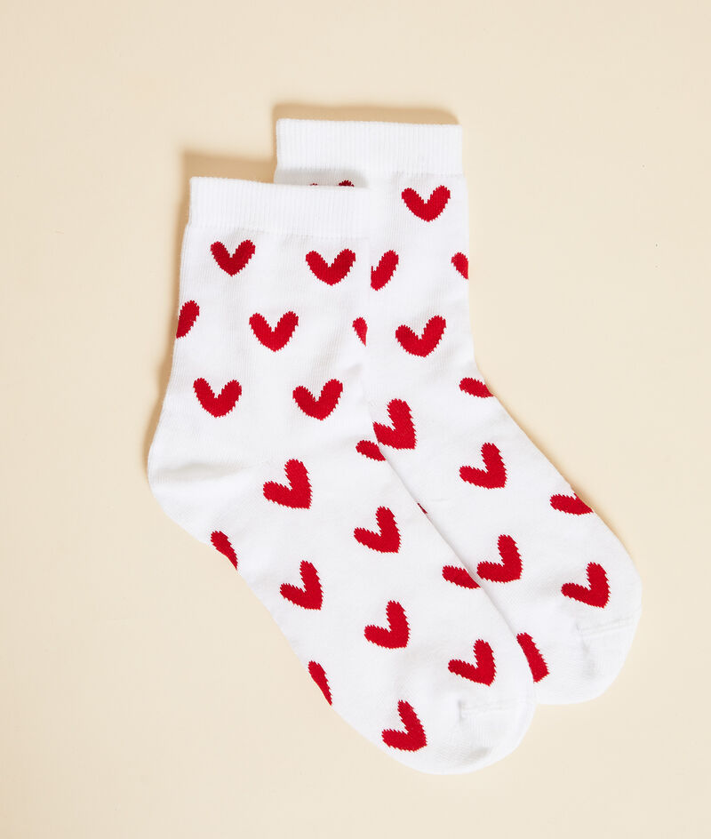 Chaussettes essentielles coeurs