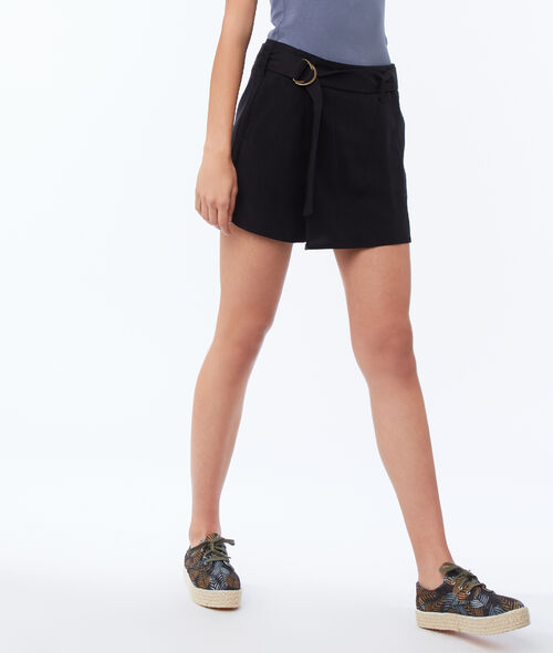 Short avec ceinture en Tencel®