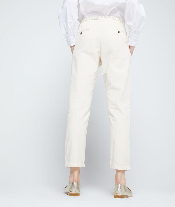 Pantalon chino ceinturé en coton bio