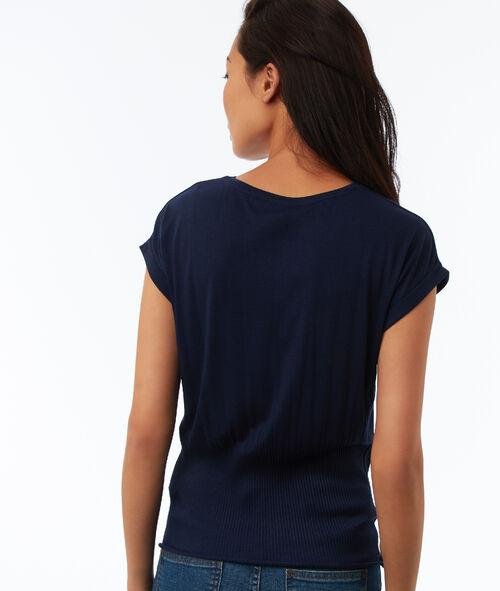 T-shirt resserré à la taille