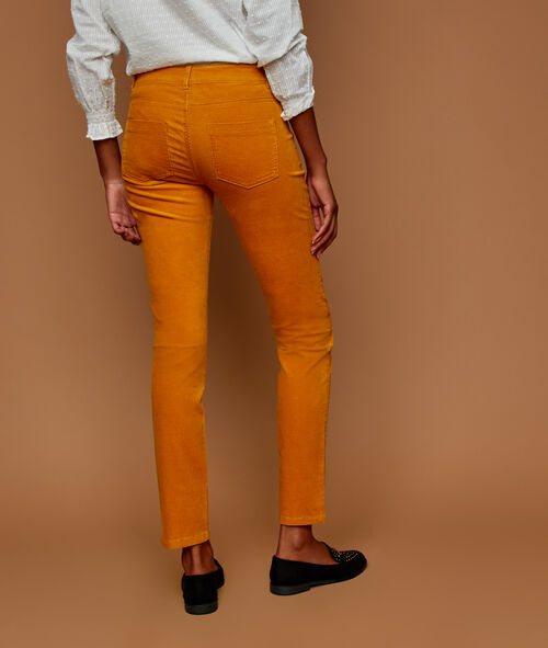 Pantalon slim en velours