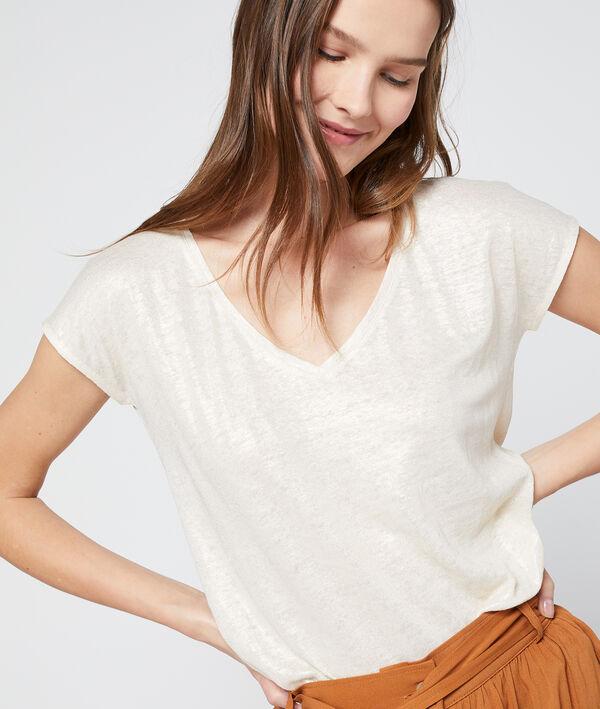 T-shirt métallisé en lin