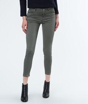 Pantalon 7/8 kaki.