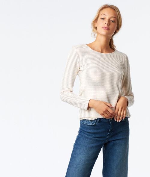 T-shirt côtelé dos croisé