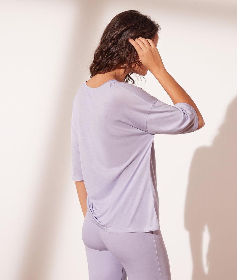 T-shirt manches 3/4 col V
