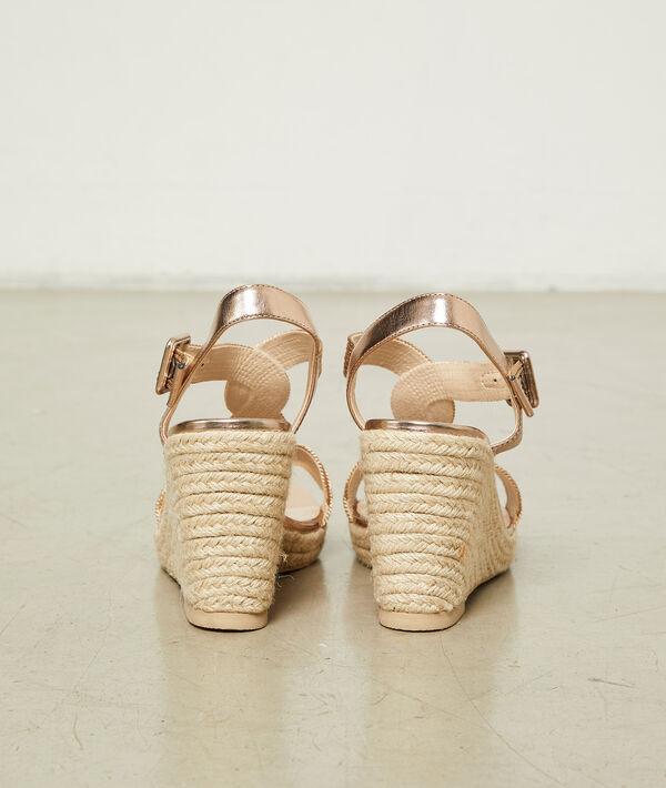 Sandales compensées tressées
