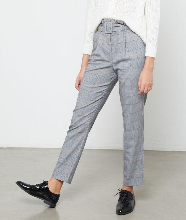 Pantalon carotte avec ceinture