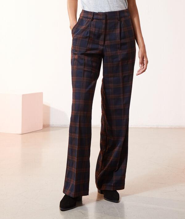 Pantalon carreaux à pinces